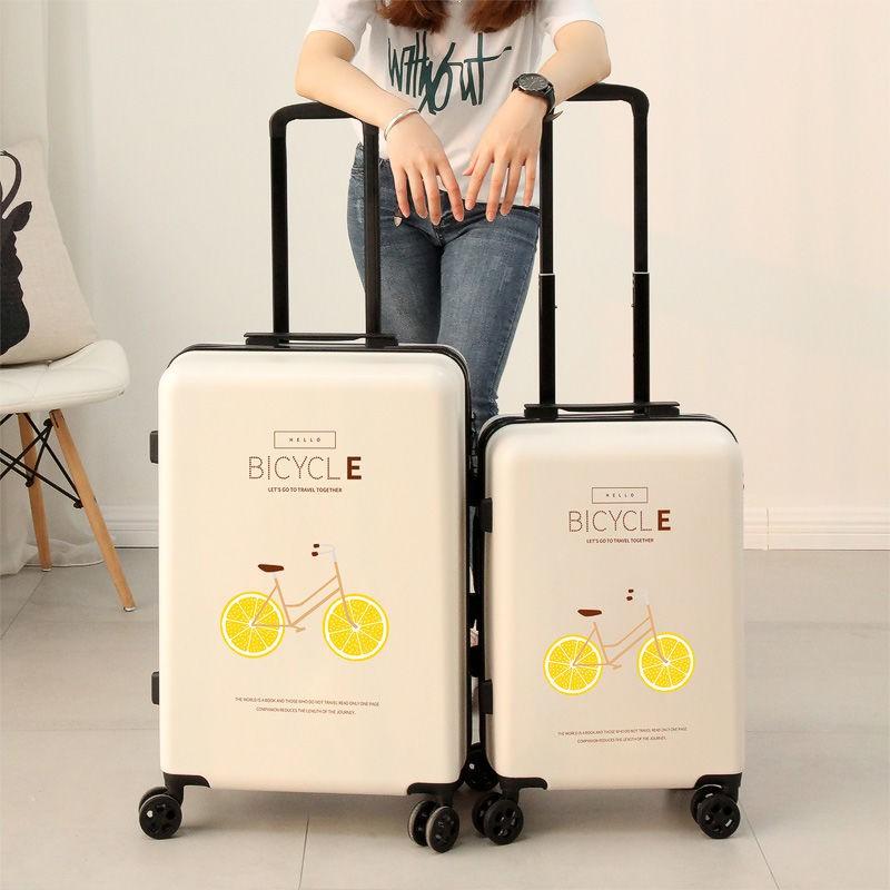 24Medium Personalized Lotus Flower Suitcase Checked