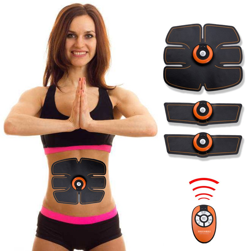 Active Smart Abdominal Muscle Trainer Sticker Body Sculpting Massager Stimulator Pad Fitness Gym Abs Arm Sports Stickers Training Fitness Equipments