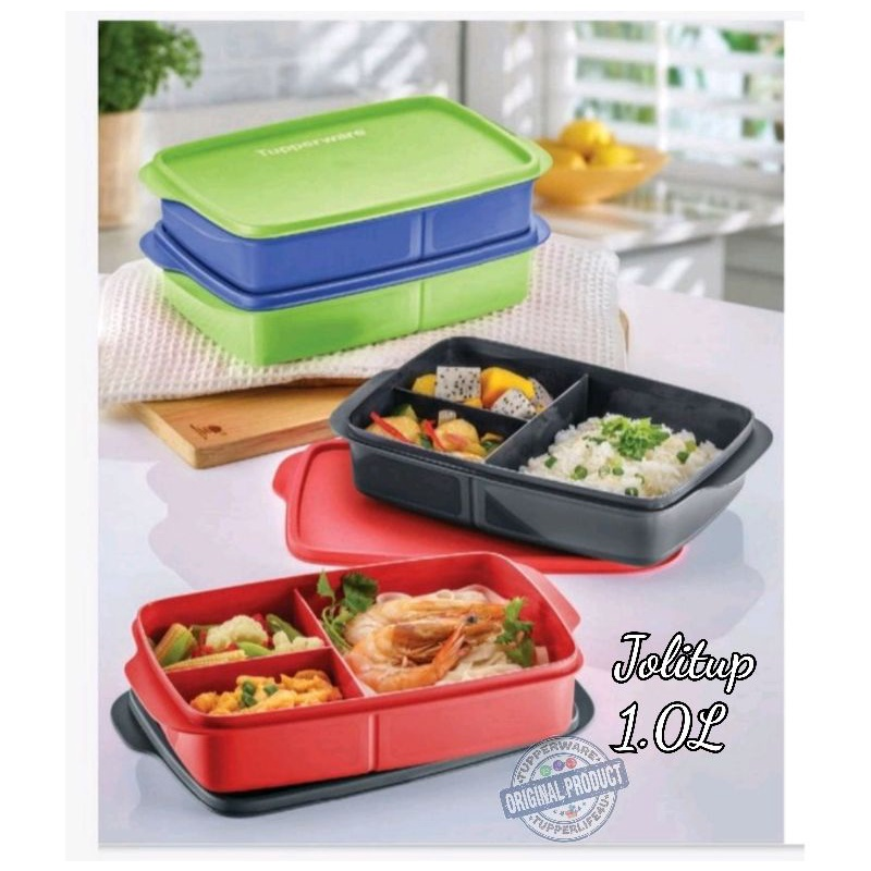 💥New - Ready Stock💥Tupperware JolliTup Lunch Box 1 Pcs Or Set Of 2Pcs (1.0L)
