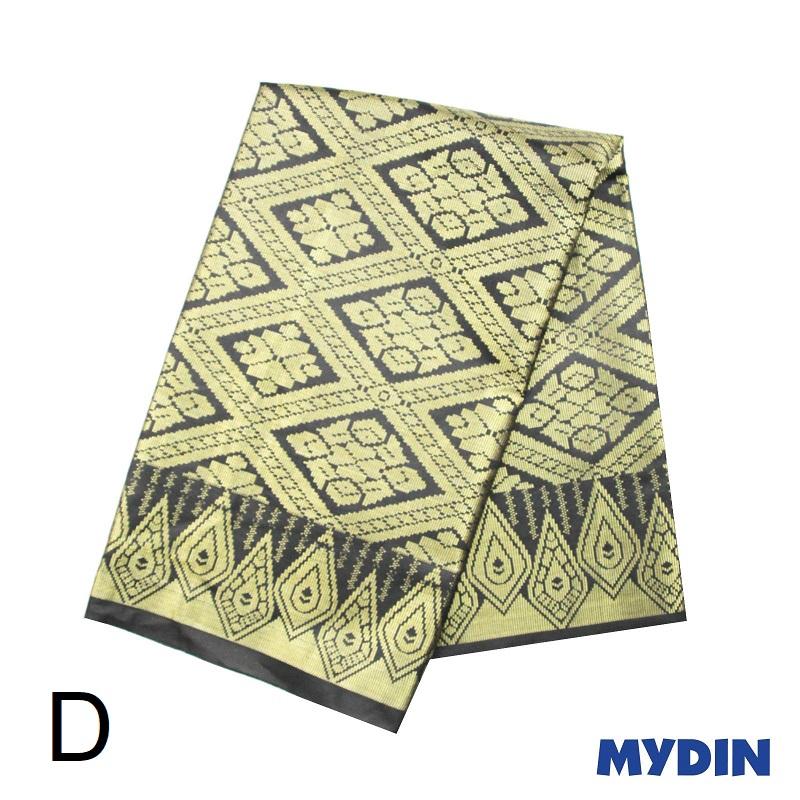 "Men Sampin - Gold on Black with Designs (2m X 32"") 0819SRLXBP01 - D #Raya"