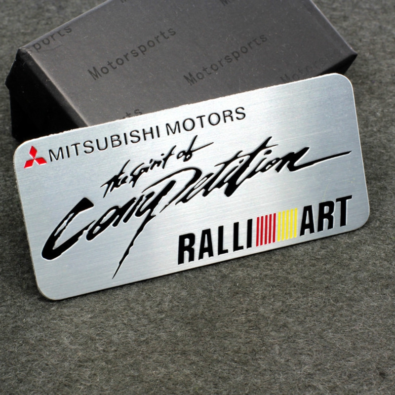 2 MITSUBISHI RACING SPORT Motorsport Vinyl Decal sticker emblem logo RED