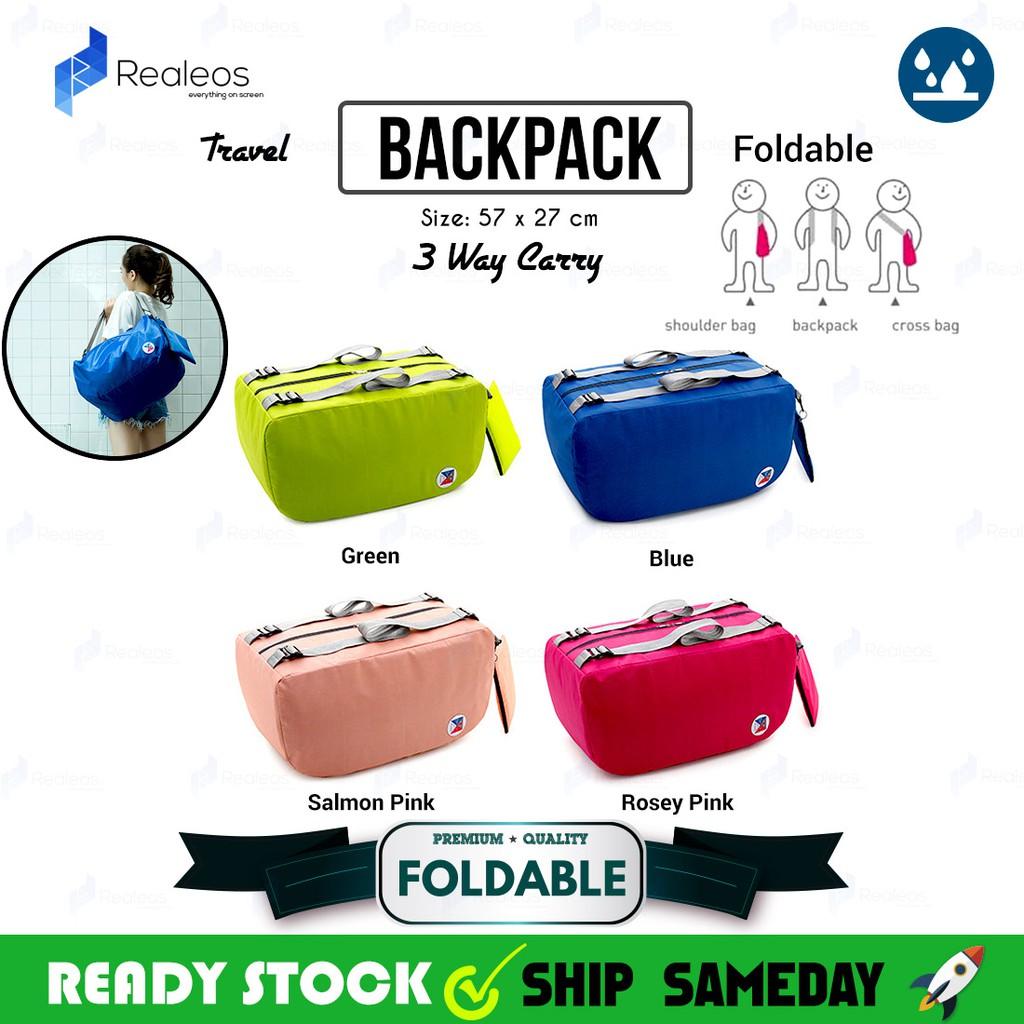 fa0e5500922c 🔥READY STOCK🔥 Realeos Korean 3 Way Foldable Bag Crossbody Backpack - R245