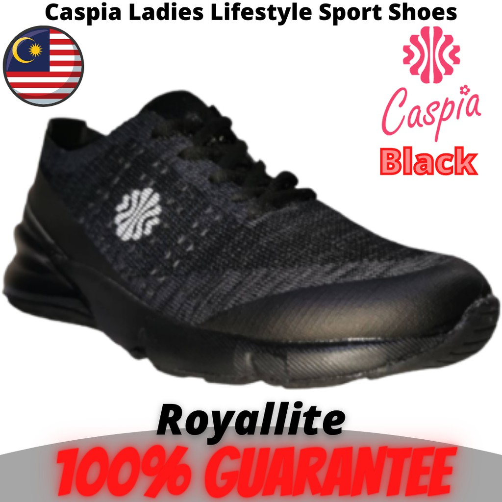 CASPIA LADIES Lifestyle SPORT SHOES THICK FOOT (119-175) Black & Maroon