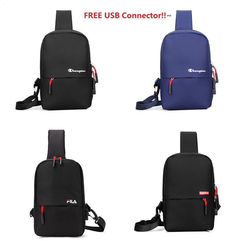3699d7486 ARCTIC HUNTER USB Charging Port Crossbody Bag Men Chest Messenger Bag |  Shopee Malaysia