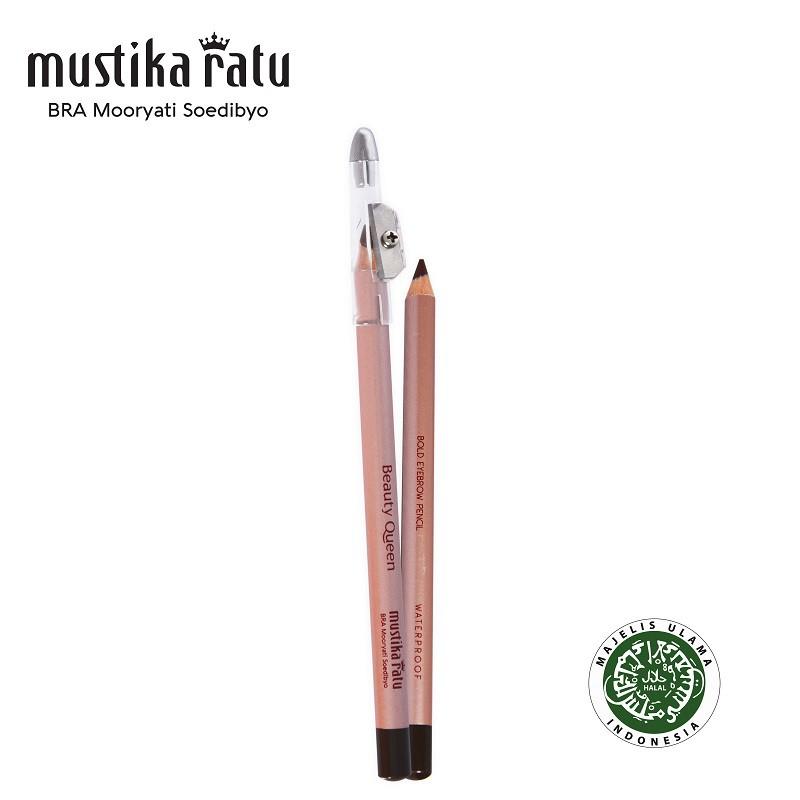 Mustika Ratu Beauty Queen Bold Eye Brow Pensil Soga 1.2gr Brown