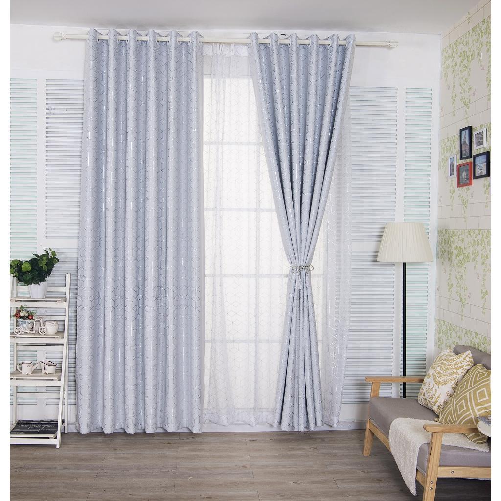 Sortina 1 Pc Langsir Blackout Curtain Bronzing Lattice Curtains