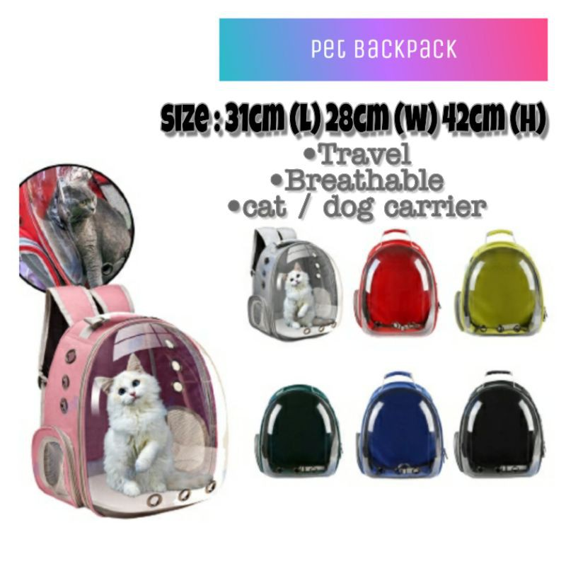 Pet Carrier Bag Pet Capsule Bag Suitable For Cat and Dog Backpack Outdoor <NH Store