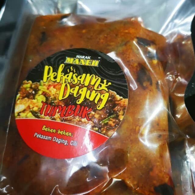 Ready to Eat Pekasam Daging Tumbuk Hakak Maneh | Ready to Eat | Koyak Plastik Terus Makan