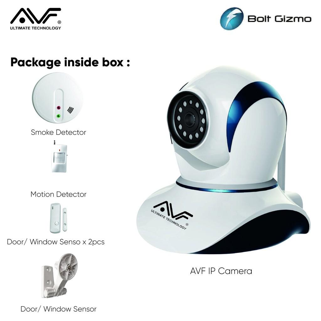 AVF Wireless Smart Home Alarm Kit - DH08K Wifi IP Camera Home CCTV Camera 720P HD Surveillance Night Vision English