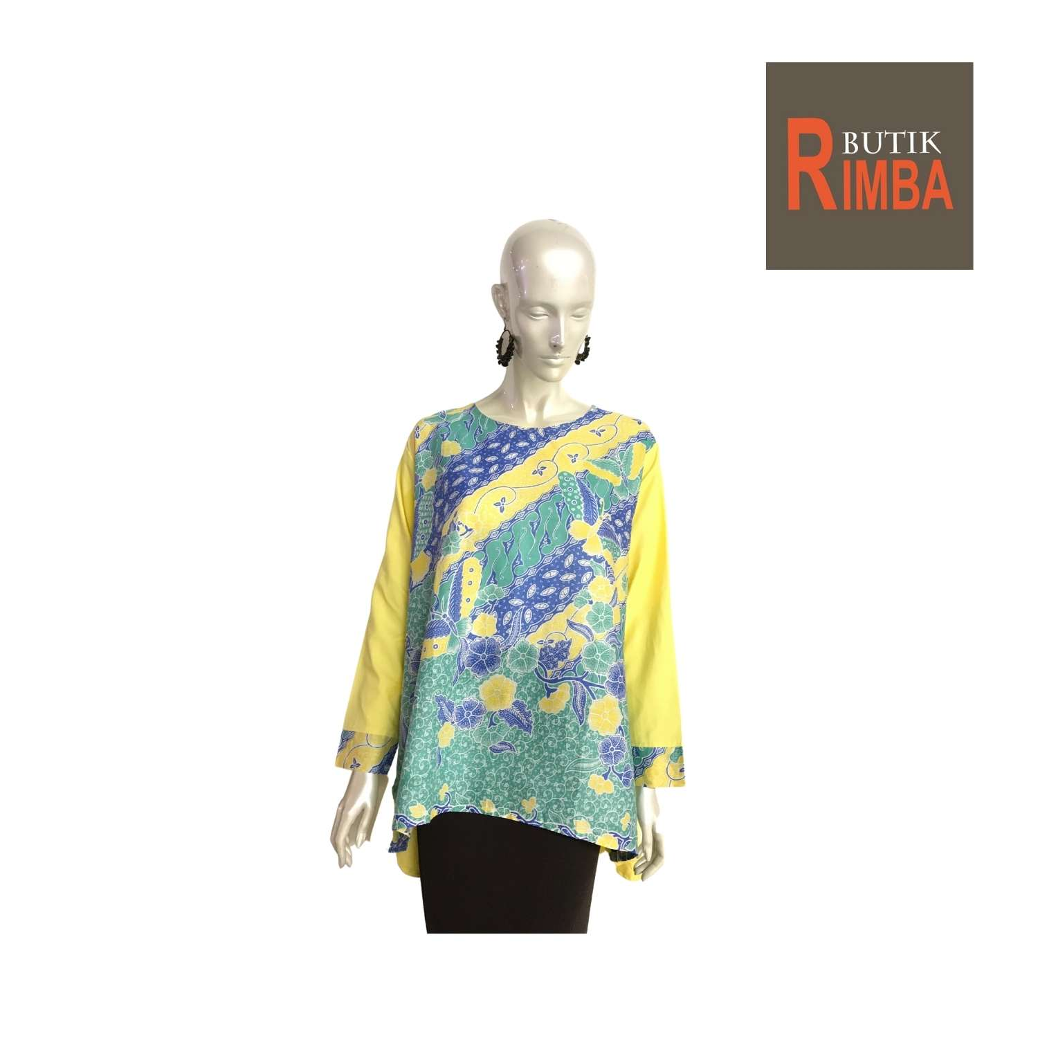 PLUS SIZE BATIK TOP FOR WOMEN WITH VIBRANT COLORS, EXCLUSIVE DESIGNS TRENDY AND COMFY 01