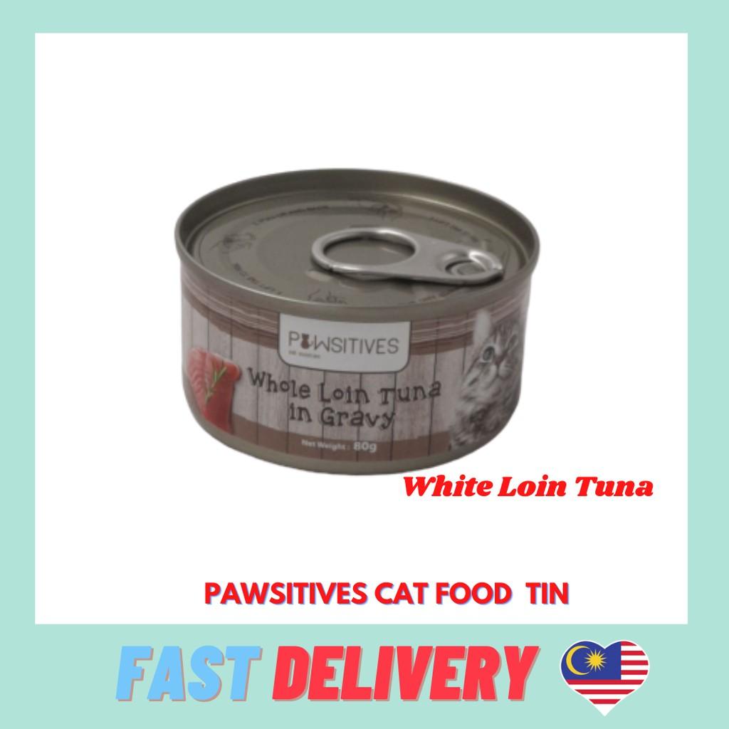 Cat Food Tin 80gram With 4 types Makan Kucing