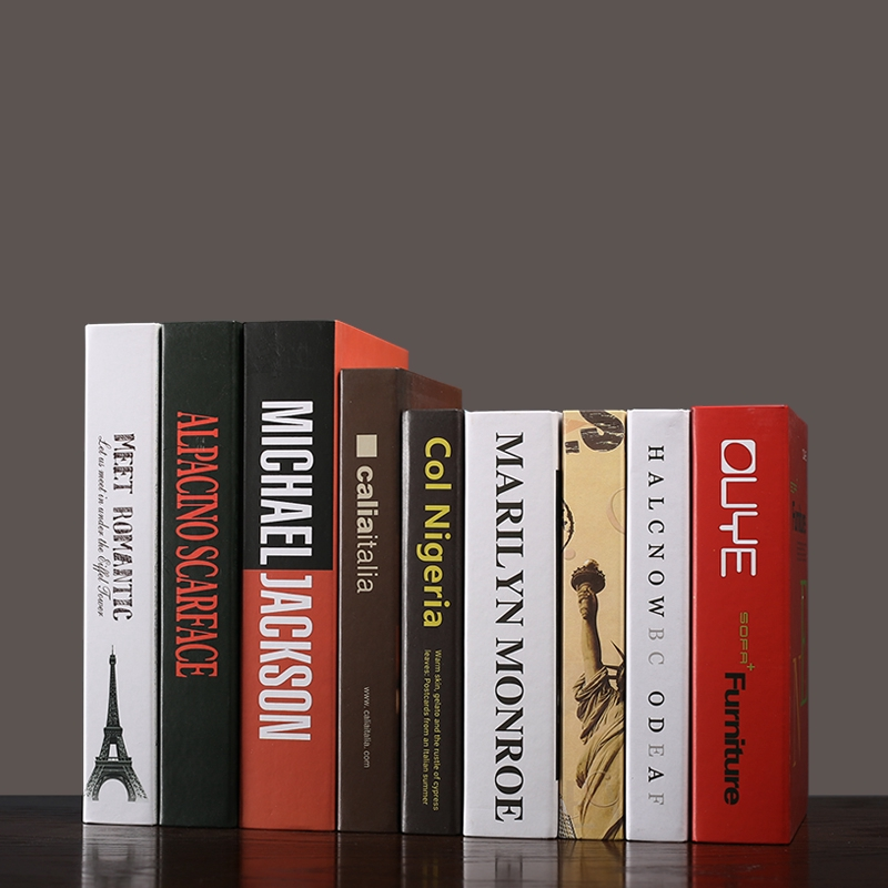 Simple Fake Books Arrangement Nordic Living Room Bookshelf Decoration Arrangement Modern Bookshelves Fake Books