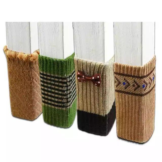 Table & Sofa Linens Dependable 4pcs Non-slip Thicken Table Legs Sleeve Striped Door Chair Cover Bow Chair Leg Socks Home Leg Floor Protectors Foot Knitting Home & Garden