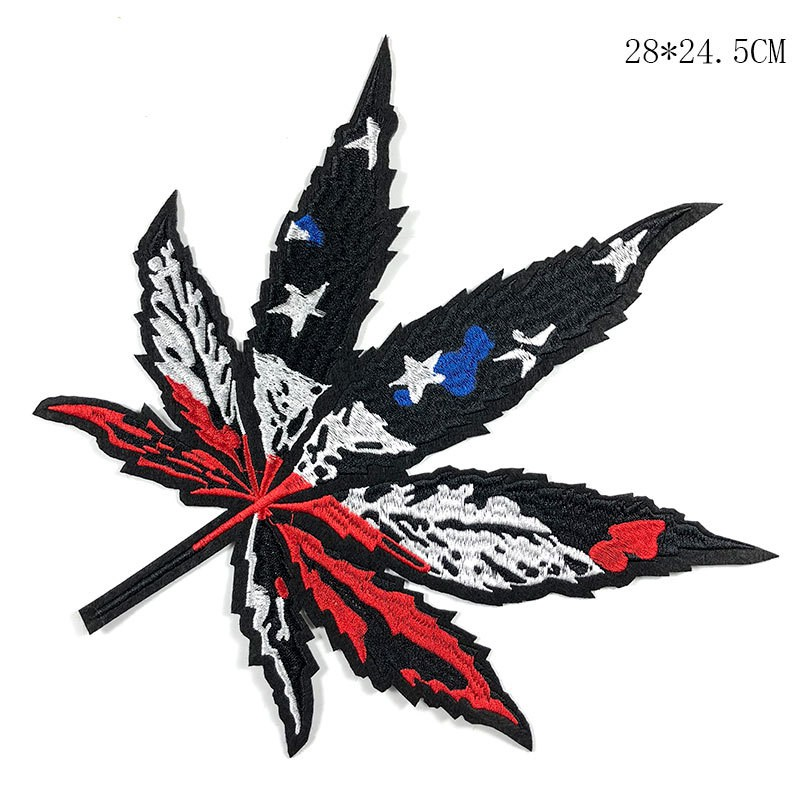 8ad41403d35b Big Maple Leaf Patch Beautiful large color Stars and Stripes ...