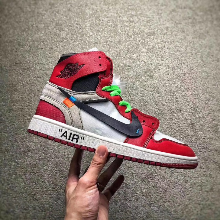 hot sale online 1065c cb92c Original Nike Air Jordan 1 AJ1 OW Off White Men s basketball shoes Outdoor  sport   Shopee Malaysia