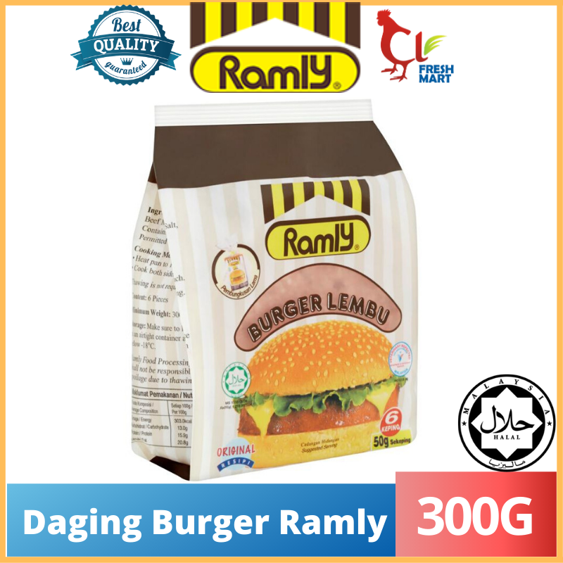 Original Daging Burger Ramly (300g) 50g/6pcs