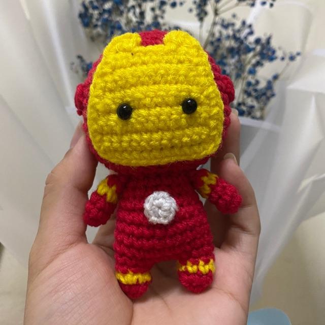Iron Man doll pattern by Luciana Caro | Crochet amigurumi free ... | 640x640