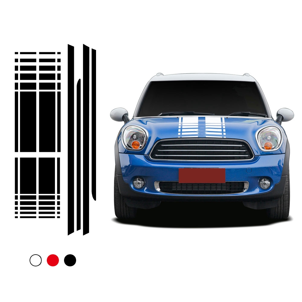 Mini Cooper Accessories 2013 >> Car Hood Trunk Rear Side Skirt Racing Stripe Decal Car Stickers For Mini Cooper Countryman R60 2013 2016 Accessories