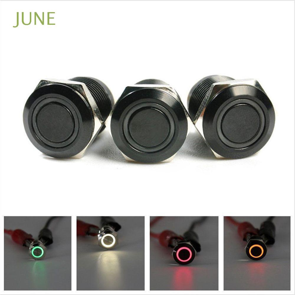 Brand New 12MM 2A 36V LED Waterproof Light Push Button Boat Flat DIY Switch Red
