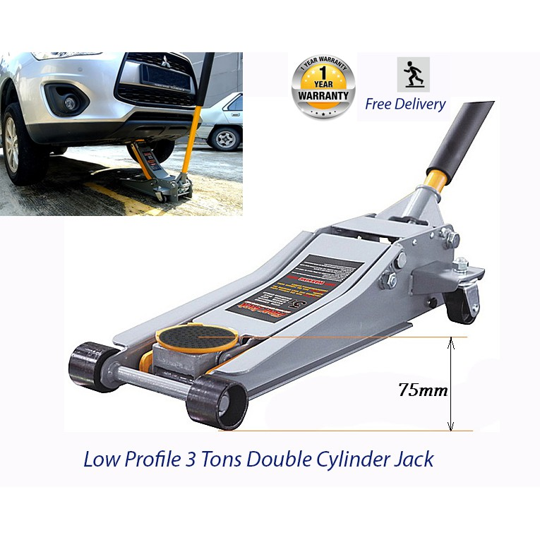 Low Profile Hydraulic Jack 3 Tons Car Floor Jack With Rapid Double Action Cylinder Shopee Malaysia