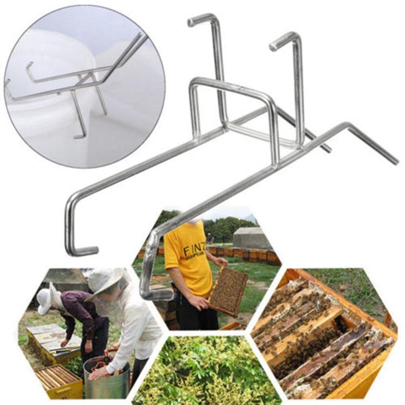 11.79 Bee Honey Bucket Rack Holder Stainless Steel Beekeepers Fixing Tools