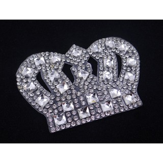 ... 10pcs Crown Clear Glass Rhinestone Patches Hotfix Motif Clothes Crystal  Applique. like  0 62e14a8c2333