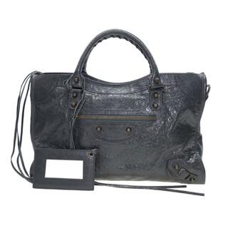 015a9596ff3 Balenciaga 281770 D94JG 1000 Giant 12 Gold City Shoulder Bag, Black ...