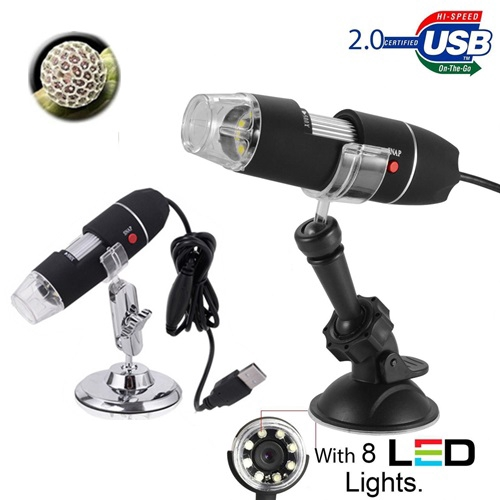 USB 1000x Zoom 8 LED Digital Microscope Endoscope Camera