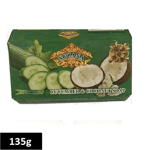 Suzana Soap 135g - Cucumber&Coconut