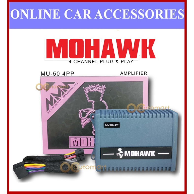 Mohawk 4 Channel Plug and Play Power Amplifier for Car Android Player