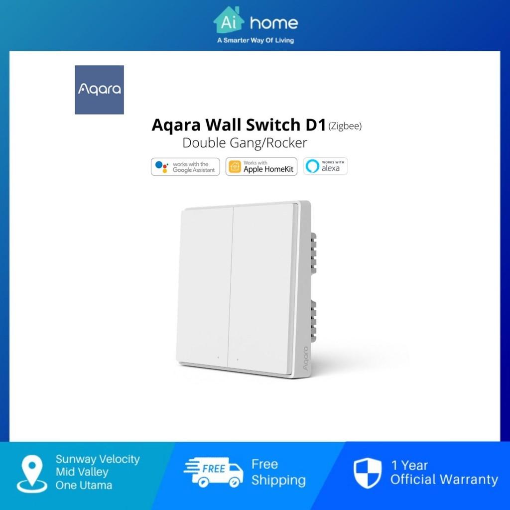 AQARA Wall Switch D1 without Neutral [ Smart Wall Switch ] - Zigbee | Support HomeKit | Global Version