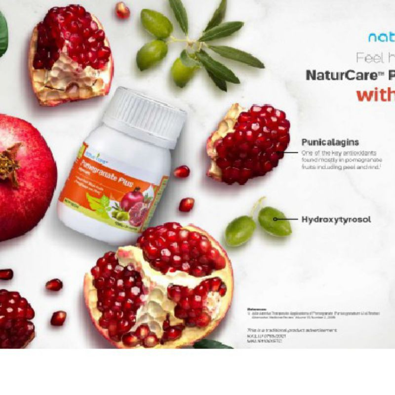 {NEW 30 Vcaps} Tupperware NaturCare Pomegranate Plus Olive 30 Vcaps