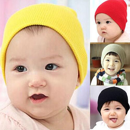8e8887a3d Cute Newborn Baby Boy Girl Kid Soft Winter Warm Knitted Crochet Cap Hat  Beanie