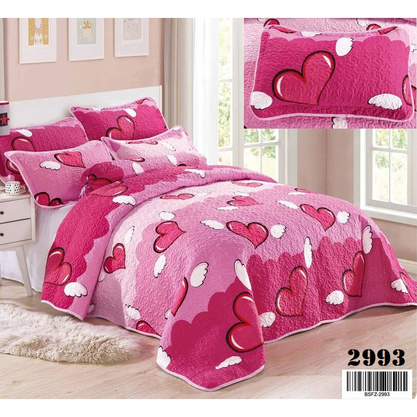 Cadar Patchwork 6 in 1 QUEEN Cotton Bedsheet - 2993
