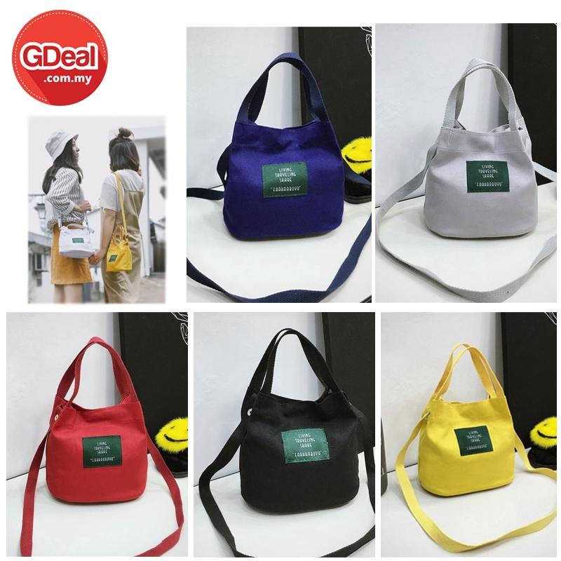 GDeal Women's Bag Canvas Bucket Bag Handbag Small Bag Sling Purse Bags Pouch Cosmetic Bag (RYL-269)