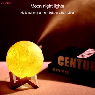 White Air Humidifier 3d Moon Lamp Light Diffuser For Residential Use 880ml Id 21825266888