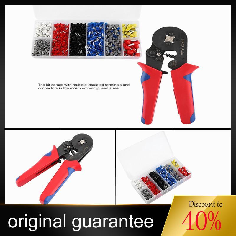 Universal Crimper Plier Set Self-adjustable Ratchat Wire Crimping