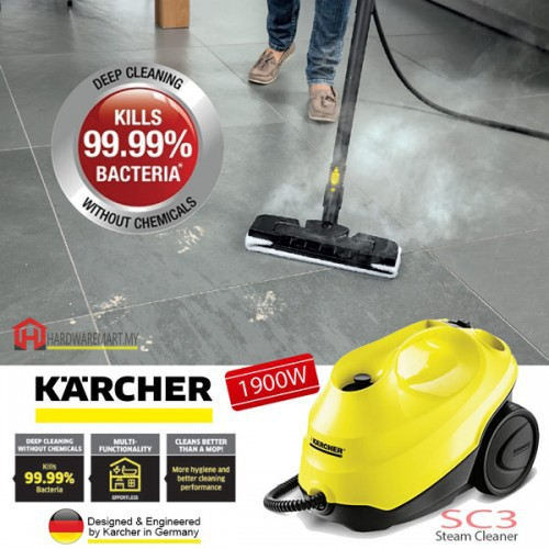 New KARCHER SC3 1900W Easy Fix Steam Cleaner 3.5 Bar With Child Lock With Box