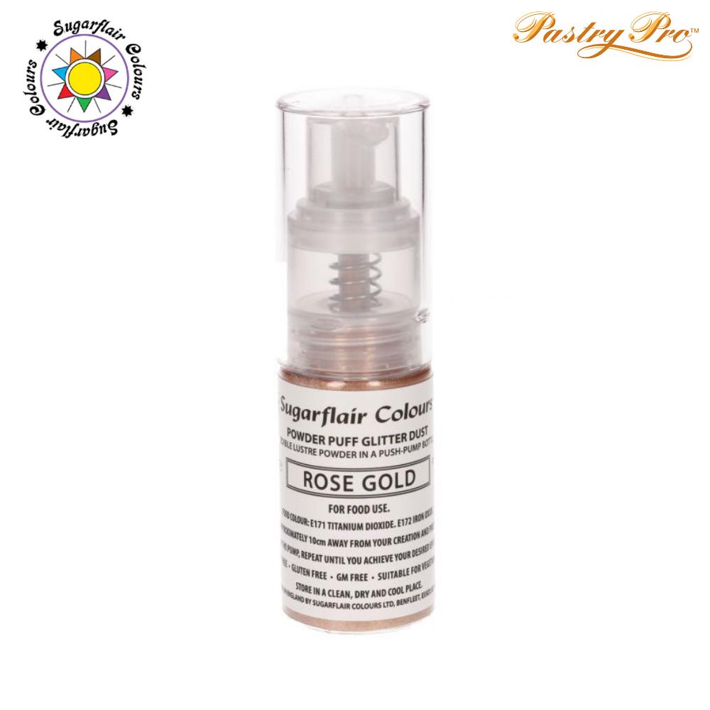 Sugarflair, Pump Spray Glitter Dust Powder, Rose Gold
