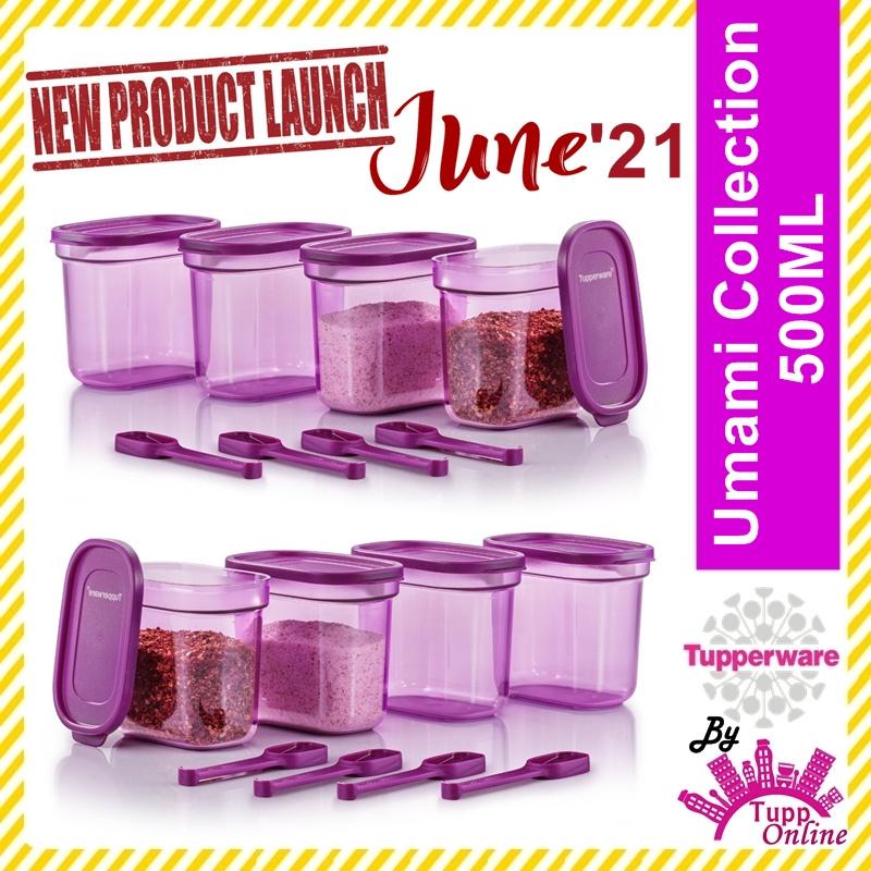 Original TUPPERWARE Umami Collection with Spoon 500ml / Bekas Umami Set / Bekas MCO Essentials [ Ready Stock ]