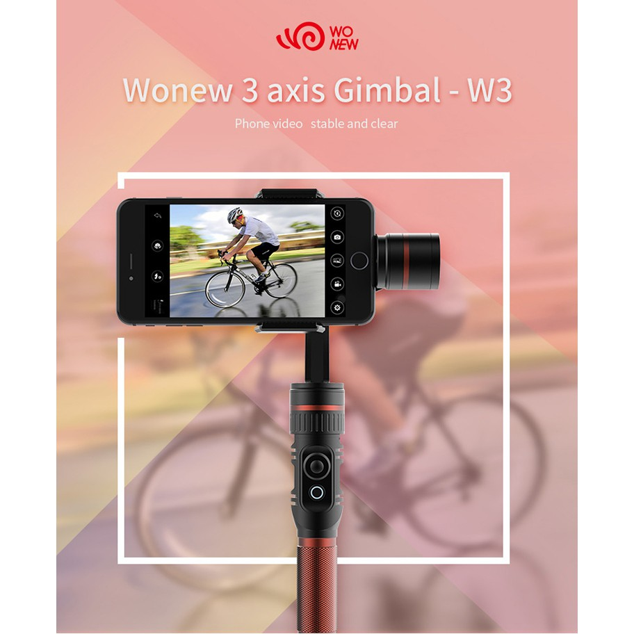 Wonew W3 Portable 3 Axis Handheld Stabilizer Gimbal For Smartphone Feiyu Spg Steady Smartphones Extra Battrey Shopee Malaysia