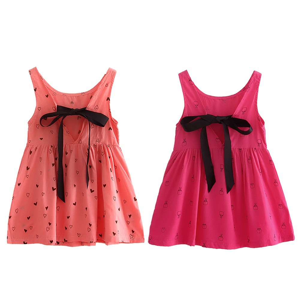 0df46c6964a (beg) Kids Girls Summer Clothes Floral Print Sleeveless Princess Wedding  Dress