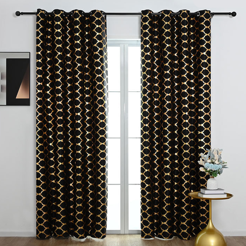 GDeal Simple Lantern Design Thick Curtains Woven Fabric Bedroom Living Room Blackout Curtain Langsir (100CM x 250CM)