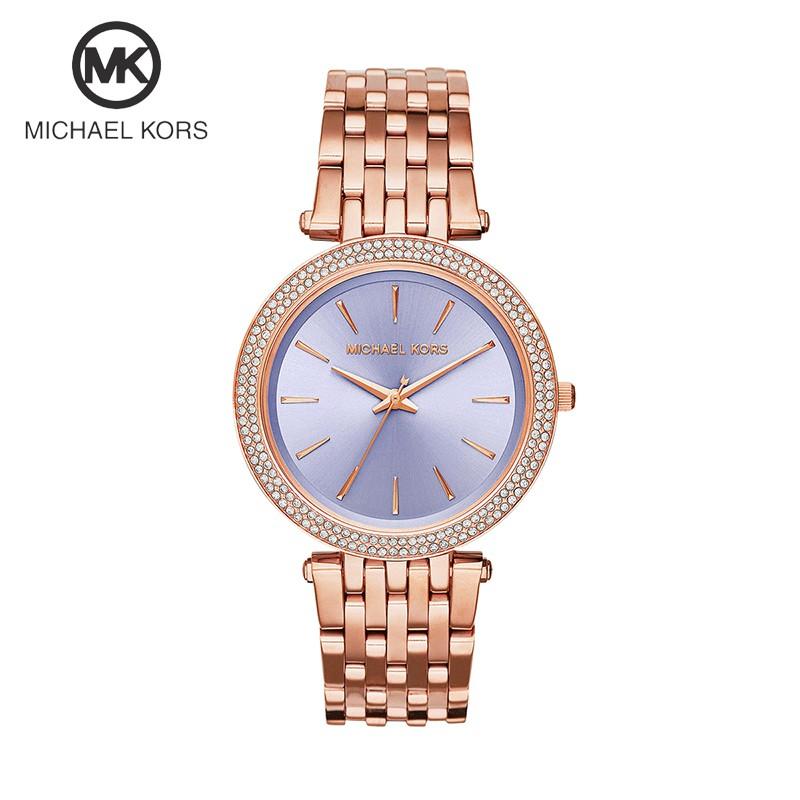 265f0ee75d4b  Authentic  Michael Kors Darci Rose Gold Tone Pave Glitz Crystals Watch  MK3217
