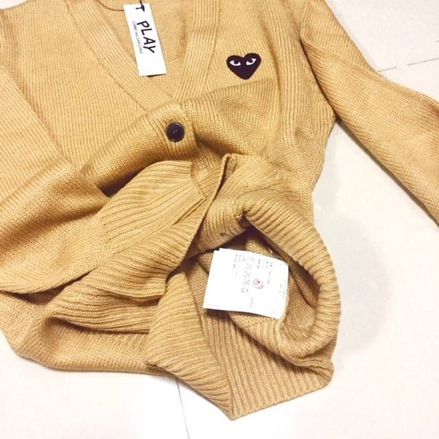 Cardigan color beige comme topmirror s