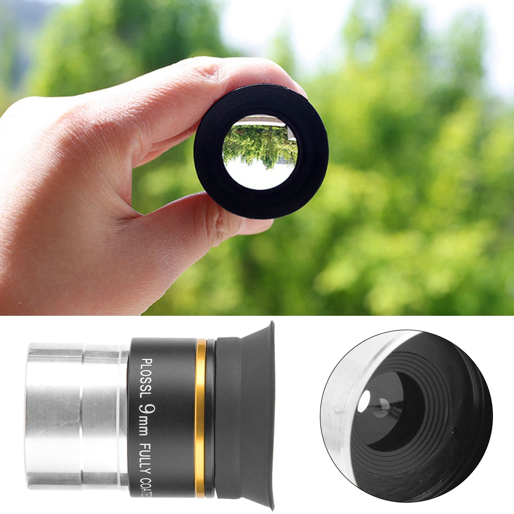 Fully Coated Metal for Astronomic Telescope Accessory 1.25inch Plossl Eyepiece 9mm