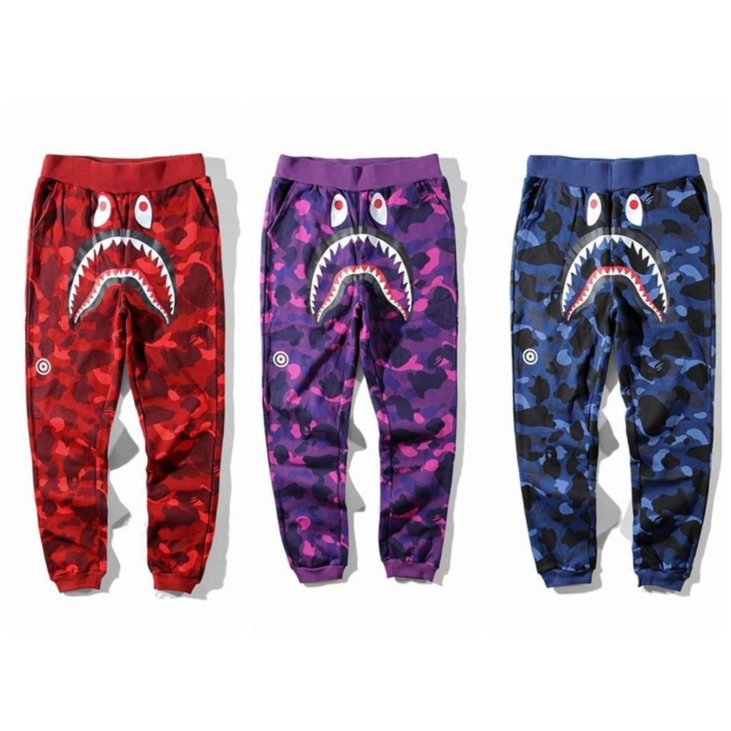 Cool Luminous A Bathing Ape Bape Starry Sky Camouflage Casual Pants Long Pants