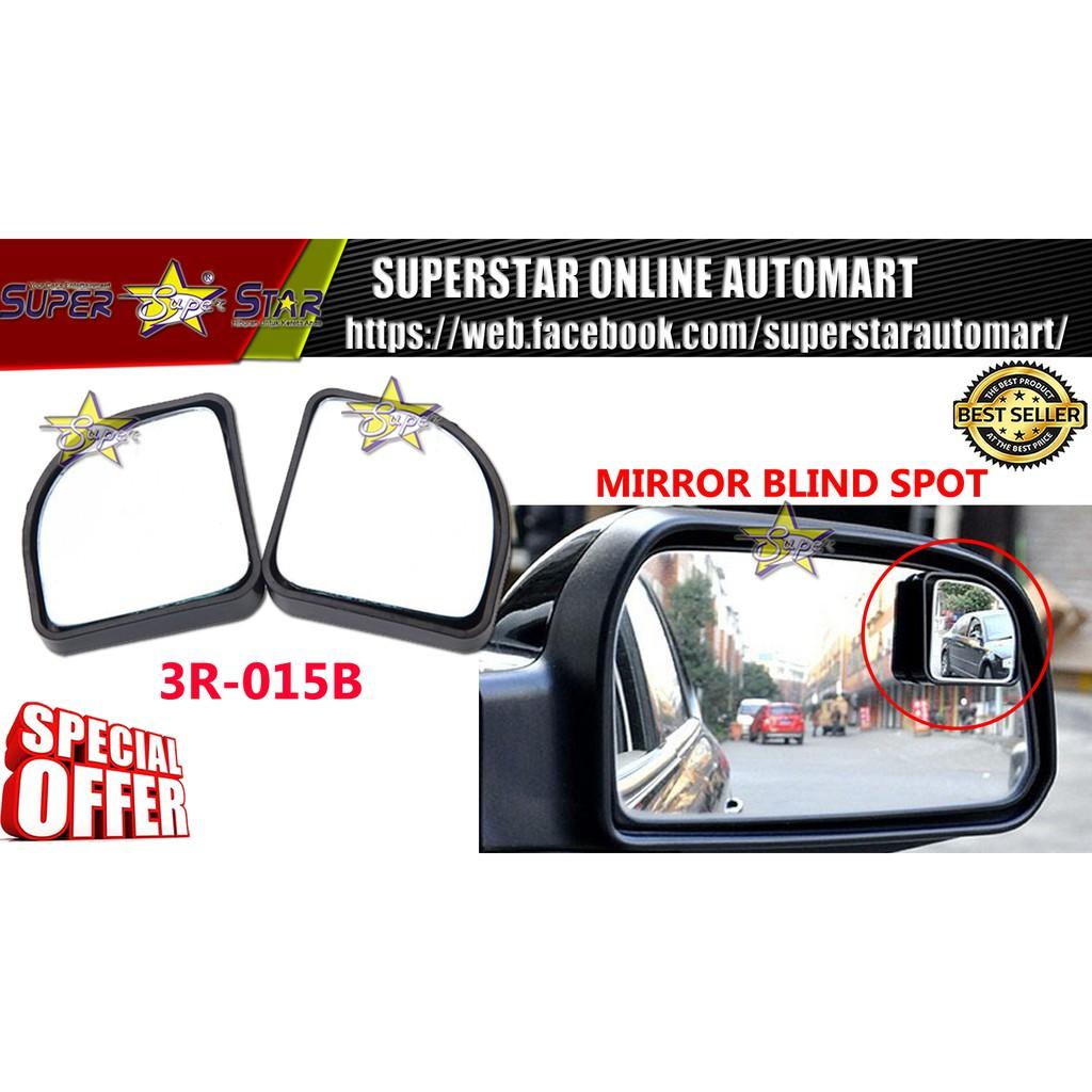 2 pc Blind Spot Mirror 3R-015B BLACK