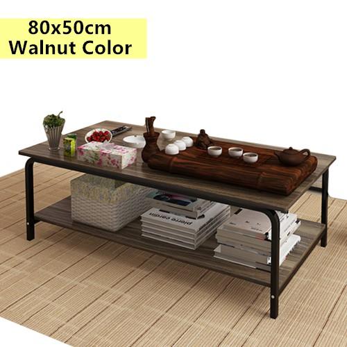 Modern Solid Metal Wood Coffee Table Living Room Drawing Tea Side Tab