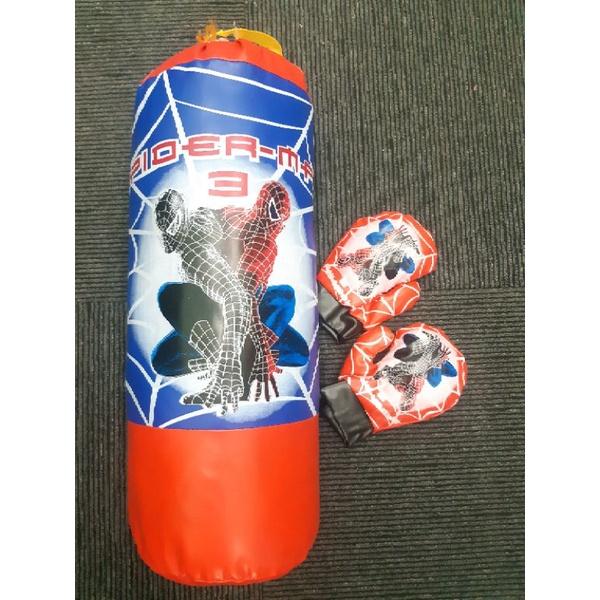 52cm Spiderman Boxing Punching Bag And Boxing Gloves Kids Boxing Toy mainan,